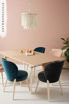 Add a pop of luxurious colour to your dining room. The Velvet Remi Dining chairs offer a subtle elegance to any room.
