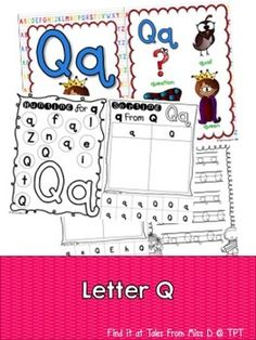 This pack contains no prep/print and go activities for the letter Q.