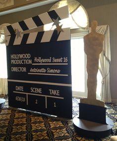 Hollywood Clap Board and Oscar