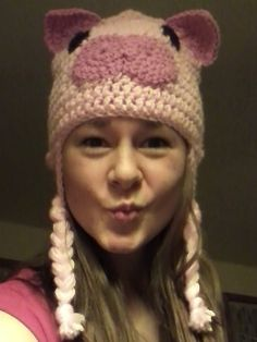 Piggy Hat by BeppysBoutique on Etsy
