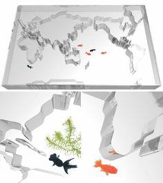 Worldly Fish Tank Tables aquarium