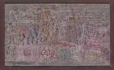 Homage to the Virgin - Mark Tobey Completion Date: 1948 Style: Abstract Expressionism Genre: religious painting Technique: tempera Material: cardboard Dimensions: 29.6 x 45.22 cm