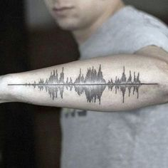 Cool Outer Forearm Male Soundwave Tattoos