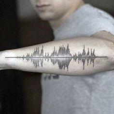 30 Tattoo Soundwave Designs For Men Idées dencre acoustique Club Tatouage