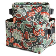 Vera Bradley Storage Bin Set in Nomadic Floral ($48) ❤ liked on Polyvore featuring home, home improvement, storage & organization and nomadic floral