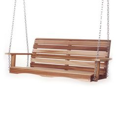 All Things Cedar�All Things Cedar 3-Seat Wood Casual Natural Unstained Porch Swing