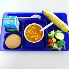 """""""With the weather getting a little cooler, this soup and salad combo really hit the spot! Soup And Salad Combo, Lunch Photos, Hospital Food, Cafeteria Food, Fat Free Milk, School Lunches, Food Service, Toddlers, Food Ideas"""