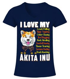 "# I Love My Akita Inu Dog .  HOW TO ORDER:1. Select the style and color you want2. Click ""Buy it now""3. Select size and quantity4. Enter shipping and billing information5. Done! Simple as that!TIPS: Buy 2 or more to save shipping cost!This is printable if you purchase only one piece. so don't worry, you will get yours.Guaranteed safe and secure checkout via: Paypal 