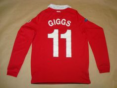 MANCHESTER-UNITED-HOME-2010-2011-11-GIGGS-M-Football-Shirt-Soccer-Maglia-Camisa