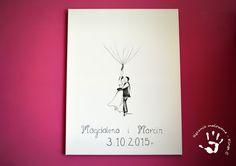Ręcznie malowana księga gości weselnych #księgagości #wesele #księgagościweselnych #odciski #odciskipalców #młodapara #balony #panimłoda #panmłody #pannamłoda #wedding #ślub #newlywedds