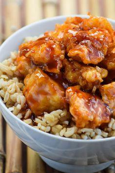Sweet and Spicy Honey Bourbon Chicken ★ We recommend Gift Shop: http://gosstudio.com ★ #christmas #recipes #food #gosstudio