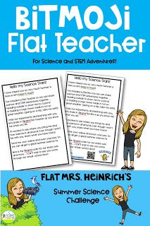 Head on over to the Science School Yard to learn how to create your own bitmoji flat teacher for the end of the year connection and Summer science and STEM fun! Science Lessons, Science Activities, Science Ideas, Elementary Science, Elementary Teacher, Reading Buddies, Summer Science, Teacher Blogs, Google Classroom