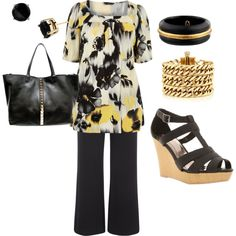 Office Casual - Plus Size Fashion - by aracely26 on Polyvore