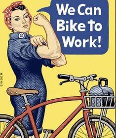 nós podemos ir de bike pro trabalho!