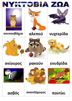Learning Activities, Kids Learning, Learn Greek, Greek Language, Forest Animals, Kids And Parenting, Preschool, Projects To Try, Teaching
