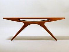 Smile Table, UFO by Johannes Andersen for CFC Silkeborg, Teak Made in Denmark 60s