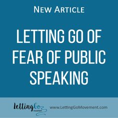 According to statistics, 74% of the population suffer from speech anxiety. If you want to Let it go, read our latest article: http://www.lettinggomovement.com/#!Letting-Go-of-Fear-of-Public-Speaking/h4fd7/5714e4db0cf2331db0f82fe6
