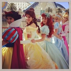 Snow White, Belle (updated), Ariel, Cinderella (updated), Aurora