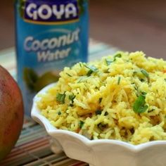 Coconut Saffron Mango Rice ... This would rock with blackened chicken!