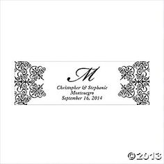 Personalized Medium Black Monogram Script Banner
