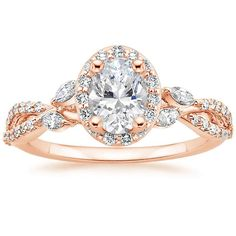 14K Rose Gold Luxe Willow Halo $3140