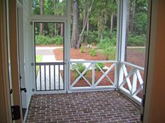 Idea for under our porch eventually - a screened in patio!
