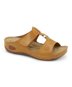 Loving this Camel Pointelle Wedge Sandal on Wedge Sandals, Wedge Shoes, Flat Shoes, Comfy Casual, Leather Design, Designer Shoes, Camel, Footwear, Wedges