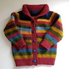 Boys Knitting Patterns Free, Baby Cardigan Knitting Pattern, Knitting For Kids, Knitting Designs, Baby Patterns, Knitting Ideas, Knit Baby Sweaters, Knitted Baby Clothes, Crochet Girls