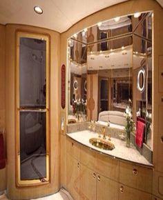 Private plane bathroom