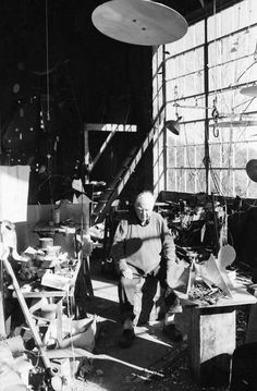 Alexander Calder in his studio The Daily Prep