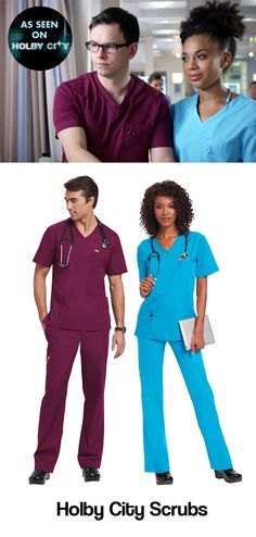 Get the Holby City look! Orange Standard Balboa top and Huntington trousers available in 10 colours.