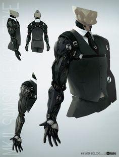 Slick sci-fi suit design for Obsidian Reverie by bradwright.deviantart.com on @deviantART