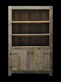 Houten kasten op maat - Wood Bookcases - Ideas of Wood Bookcases - rustic cabinet instead of dresser clothes in bottom toys and books on shelves Reclaimed Wood Projects, Diy Pallet Projects, Pallet Ideas, Woodworking Projects, Pallet Crates, Pallet Storage, Wooden Pallets, Pallet Wood, Pallet Shelves