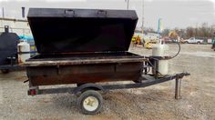 6' tow-behind grill carried by Action Rentals of Chattanooga. Propane or charcoal (can smoke meats with charcoal). actionrentaltn@gmail.com