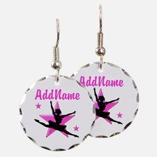 DANCE SUPER STAR Earring Calling all Dancers! Enjoy our beautiful selection of Dancer and Ballerina personalized jewelry.  http://www.cafepress.com/sportsstar/10423569 #Dancer #Dancergifts #Ballet #Ballerina  #Personalizeddancer #DancerJewelry