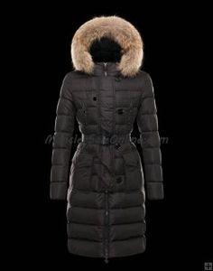 Best 2013 Winter MONCLER GENEVRIER Women Down Parka BLACK Online Store