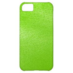 Lime Green Leather Look (Faux) Cover For iPhone 5C