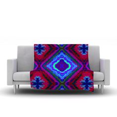 "Nina May ""Kilim"" Fleece Throw Blanket"