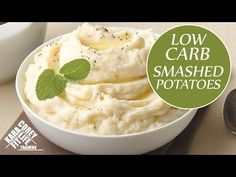 LOW CARB Smashed Potatoes - YouTube