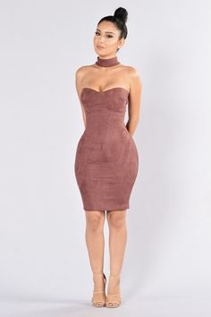 Case Of The Ex Dress - Burgundy