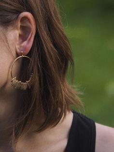 Rasa Hoop Earrings by Laura Lombardi $170, Silver & Stone | shopsilverandstone.com
