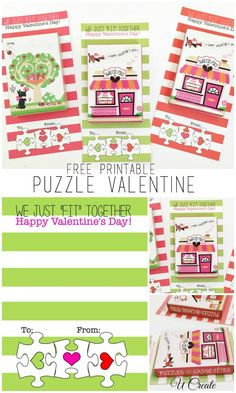 My daughter LOVES to do puzzles and when we saw these mini puzzle boxes at Michaels (pack of 8 for a couple of bucks!) she was excited to hand these out to her little friends at school for their Valentine party.  MichaelsMakers  U-Create Crafts
