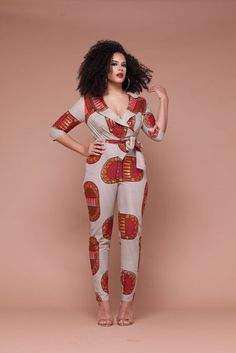 Rock the Latest Ankara Jumpsuit Styles these ankara jumpsuit styles and designs are the classiest in the fashion world today. try these Latest Ankara Jumpsuit Styles 2018 African Dresses For Women, African Print Dresses, African Attire, African Wear, African Fashion Dresses, African Women, African Prints, African Style, Ankara Fashion