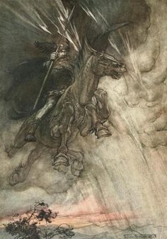 Arthur Rackham The Rhinegold and the Valkyrie 1910