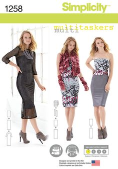 Simplicity Creative Group - Misses' Easy Knit Pieces. Multitaskers Collection.