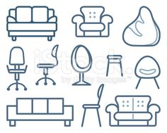 Furniture for sitting royalty-free stock vector art