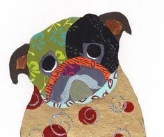Pug Collage Print  A55 by pugnotes on Etsy (Art & Collectibles, Prints, print, collage, pug, dog)