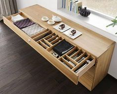 Nox Contemporary Beech Sideboard - modern - buffets and sideboards - london - Wharfside Living Room Furniture, Modern Furniture, Home Furniture, Furniture Design, Cutlery Storage, Storage Chair, Solid Wood Sideboard, Modern Sideboard, Credenza