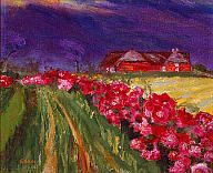 Emil Nolde (German, 1867–1956) Roses on Path, 1935 Oil on canvas 23 1/2 x 29 in. (59.69 x 73.66 cm) Gift of Mrs. Harry Lynde Bradley M1962.1133 Photo credit Malcolm Varon © Nolde Stiftung Seebüll
