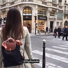 @h a l Singapore Outfit, Longchamp Backpack, Thailand Outfit, Fashion 2018, Womens Fashion, Backpack Outfit, Parisian Chic, Bago, Cloth Bags